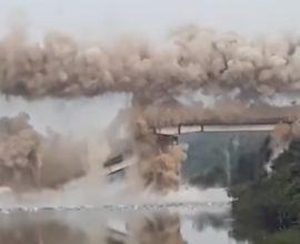 ΣΥΓΚΛΟΝΙΣΤΙΚΟ ΒΙΝΤΕΟ: Κατεδάφιση γέφυρας μέσα σε λίγα δευτερόλεπτα!