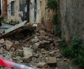 Κατέρρευσε εγκαταλελειμμένο κτίριο και στο Ηράκλειο