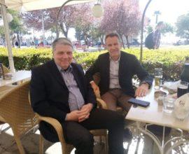 Δήμος Θεσσαλονίκης: Ο Χρυσόστομος Καλογήρου με τον Σπύρο Βούγια