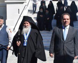 Με βυζαντινή μεγαλοπρέπεια εορτάστηκε στο Άγιον Όρος η Eθνική Eπέτειος της 25ης Μαρτίου