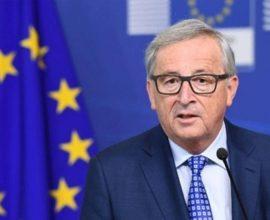 Γιούνκερ: Παραμένει ο κίνδυνος ενός Brexit χωρίς συμφωνία