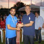 Απόλυτα ικανοποιημένος από τη διοργάνωση του τουρνουά «Κώστας Λιούλιος» ο Αντιπεριφερειάρχης Τρικάλων Χρ. Μιχαλάκης