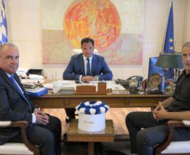 Συνάντηση Μώραλη – Γεωργιάδη για ΕΣΠΑ, επενδύσεις και λιμάνι