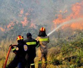 Οριοθετήθηκε η πυρκαγιά στα Κύθηρα -Υπό μερικό έλεγχο στη Νέα Κίο Αργολίδας