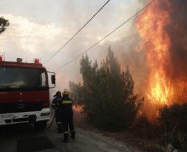 Υπό μερικό έλεγχο τέθηκαν οι πυρκαγιές σε Σύρο και Κέρκυρα