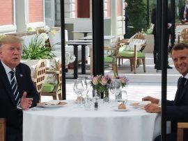Τα «βρήκαν» Τράμπ – Μακρόν πριν τη σύνοδο των G7