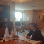 Επίσκεψη του Αντιδημάρχου Διονύσου Ν. Καρυστινού στην Υφυπουργό Παιδείας