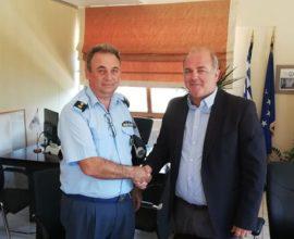 Θέματα ασφάλειας και αστυνόμευσης του Δήμου Διονύσου, έθεσε ο Δήμαρχος Γ. Καλαφατέλης στο νέο Διοικητή του Αστυνομικού Τμήματος