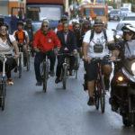 Στην ποδηλατοδρομία που διοργάνωσε η Περιφέρεια Αττικής και ο «Σύλλογος Αστικών Ποδηλάτων Αττικής-ΠοδηλΑΤΤΙΚΗ ο Γ. Πατούλης