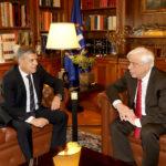 Συνάντηση Παυλόπουλου- Αγοραστού αύριο, στο Προεδρικό Μέγαρο