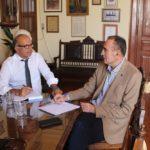 Συνάντηση Δημάρχου Σύρου-Ερμούπολης με Αντιπεριφερειάρχη Κυκλάδων