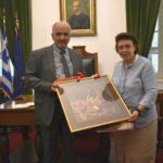 Την Υπουργό Πολιτισμού Λίνα Μενδώνη υποδέχθηκε στην Ιερή Πόλη Μεσολογγίου ο Δήμαρχος Κώστας Λύρος