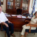 Συνάντηση του Αντιπεριφερειάρχη Λασιθίου με την προϊσταμένη της Εφορείας Αρχαιοτήτων