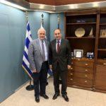 Συνάντηση του Δημάρχου Μεσολογγίου με τον Υπουργό Ναυτιλίας και Νησιωτικής Πολιτικής