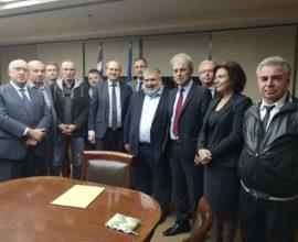 Συνάντηση εκπροσώπων του Δήμου Εορδαίας με τον Υπουργό Περιβάλλοντος και Ενέργειας Κ. Χατζηδάκη