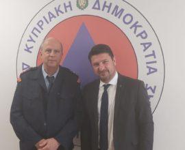 Στην Κύπρο ο Νίκος Χαρδαλιάς – Συναντήσεις με την Αναπληρώτρια Κυβερνητική Εκπρόσωπο, τον Διοικητή Πολιτικής Άμυνας και τον Διευθυντή Π.Υ. Κύπρου