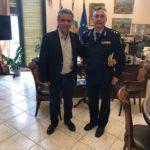 Συνάντηση Δημάρχου Χίου με τον Ταξίαρχο του Πυροσβεστικού Σώματος της Περιφέρειας Β. Αιγαίου