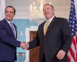 Συνάντηση Χριστοδουλίδη – Πομπέο: Τα επόμενα βήματα για την αναβάθμιση των σχέσεων Κύπρου-ΗΠΑ