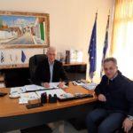 Συνάντηση του Αντιπεριφερειάρχη Ανατολικής Αττικής με τον Σμήναρχο της Πολεμικής Αεροπορίας Διοικητή του 2ου ΑΚΕ Πάρνηθας