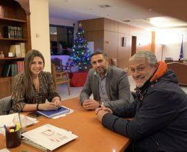Επίσκεψή Λευτέρη Κοντουλάκου στην Υφυπουργό Παιδείας Σοφία Ζαχαράκη