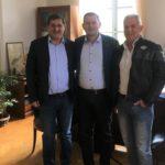 Συνάντηση του Αντιπεριφερειάρχη Θ. Βασιλόπουλου με τον Δήμαρχο Πατρέων Κ. Πελετίδη