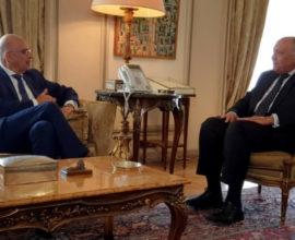 Τηλεφωνική επικοινωνία του Ν. Δένδια με τον Αιγύπτιο υπουργό Εξωτερικών Σάμεχ Ελ-Σούκρι
