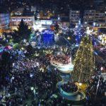 Φαντασμαγορικό το άναμμα του Χριστουγεννιάτικου Δέντρου στην Καβάλα