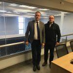 Ενημέρωση του Δημάρχου Κ. Κουκοδήμου από τον διευθυντή Λειτουργίας της Αυτοκινητόδρομος Αιγαίου για τις εργασίες αναβάθμισης στην υπόγεια σήραγγα Κατερίνης