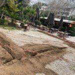 Εργασίες υπογειοποίησης των καλωδίων ηλεκτρικού ρεύματος στο Άλσος Κηφισιάς