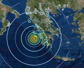 Σεισμική δόνηση 4,6 Ρίχτερ νότια της  Ζακύνθου