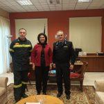 ΠΙΝ: Συνάντηση της Ρόδης Κράτσα – Τσαγκαροπούλου με τους νέους διοικητές του Πυροσβεστικού Σώματος Ιονίων Νήσων και Κέρκυρας