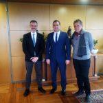 Εθιμοτυπική συνάντηση του Δημάρχου Θεσσαλονίκης Κ. Ζέρβα με τον Δήμαρχο Καλαμάτας Θ. Βασιλόπουλο