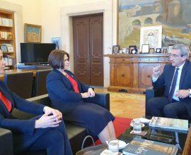 Συνάντηση του Περιφερειάρχη Ν. Αιγαίου με την Πρέσβη της Σλοβακίας Ελλάδα, Iveta Hricova