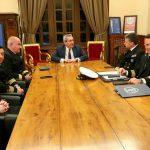 Τον νέο Αρχηγό του Λιμενικού Σώματος, Αντιναύαρχο Θεόδωρο Κλιάρη, υποδέχθηκε ο Περιφερειάρχης Γιώργος Χατζημάρκος