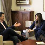 Συνάντηση εργασίας του Περιφερειάρχη Απ. Τζιτζικώστα με την Υφυπουργό Παιδείας και Θρησκευμάτων Σ. Ζαχαράκη