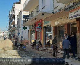 Δήμος Καλαμάτας: Σε εξέλιξη τα έργα ανάπλασης στην οδό Ιατροπούλου
