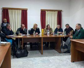 Η Δήμαρχος Χαλκιδέων Έλενα Βάκα στα συμβούλια των Κοινοτήτων του Μύτικα και της Νέας Λαμψάκου