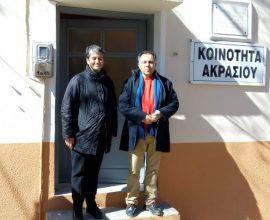 Ο Δήμαρχος Μυτιλήνης Στρ. Κύτελης στο Ακράσι