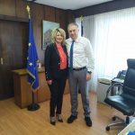 Συνάντηση της Δημάρχου Οιχαλίας με τον Υπουργό Εσωτερικών