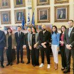 Εθιμοτυπική επίσκεψη αντιπροσωπείας του Μαυροβούνιου και της πρέσβειρας στην Ελλάδα, στο Δημαρχείο Πειραιά