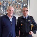 Συνάντηση του Δημάρχου με το νέο Διοικητή των Πυροσβεστικών Υπηρεσιών της Π.Ε. Καβάλας, Νικόλαο Μπαλατσούκα