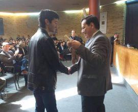 Ο Ηλείος πρύτανης του ΕΜΠ βράβευσε τον Ηλείο «χρυσό» νικητή, της 37ης Εθνικής Μαθηματικής Ολυμπιάδας