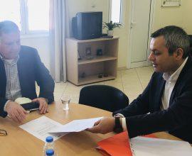 Συνάντηση του Δημάρχου Μινώα Πεδιάδας Μ. Φραγκάκη με τον Βουλευτή Ηρακλείου Χ. Μαμουλάκη