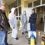 Προληπτική απολύμανση για τον κορoνoϊό σε όλους  τους δημοτικούς χώρους στον Δήμο Νεάπολης-Συκεών