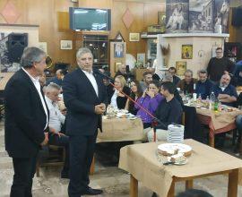 Στην εκδήλωση κοπής της πίτας του Σωματείου Εργαζομένων στον ΕΔΣΝΑ ο Περιφερειάρχης Αττικής Γ. Πατούλης