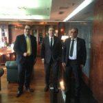 Συνάντηση του Δημάρχου Περάματος Γ. Λαγουδάκη με τον Υπουργό Προστασίας του Πολίτη Μ. Χρυσοχοΐδη
