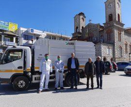 Απολυμαντικοί ψεκασμοί σε κοινόχρηστους χώρους του Δήμου Ελασσόνας