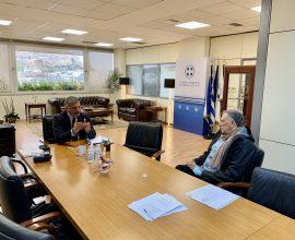 Συνάντηση του Περιφερειάρχη Αττικής Γ. Πατούλη με τον Πρόεδρο της Πανελλήνιας Ένωσης Μονάδων Φροντίδας Ηλικιωμένων Σ. Προσαλίκα