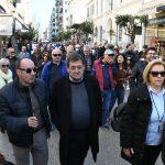 «Παρών» ο Δήμαρχος Πατρέων στην συγκέντρωση διαμαρτυρίας των εκπαιδευτικών