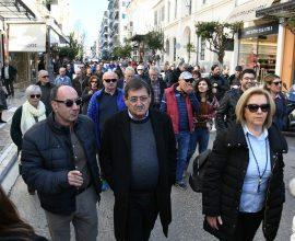 Παρών ο Δήμαρχος Πατρέων στην συγκέντρωση διαμαρτυρίας των εκπαιδευτικών